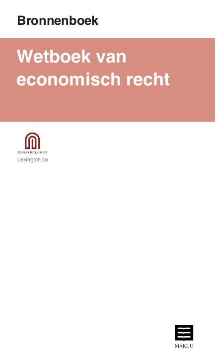 Wetboek van economisch recht (Bronnenboek)