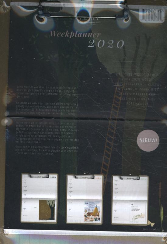 Plint poëzie weekplanner 2020