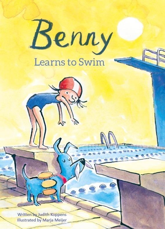Benny learns to swim