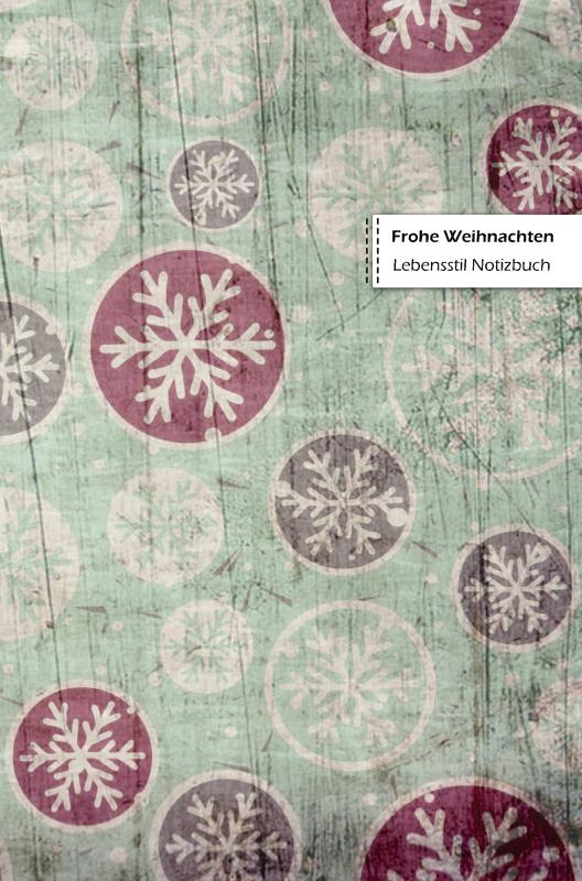 Merry Christmas Lifestyle Notebook, Wide-ruled Dotted Lines, 180 Pages (Book 2)