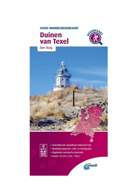 Wandelregiokaart Duinen van Texel 1:33.333
