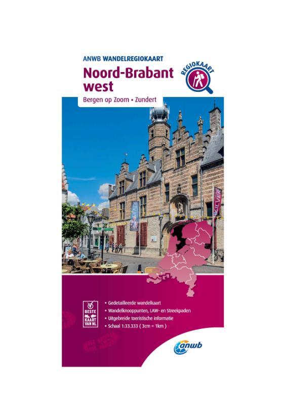 Wandelregiokaart Noord-Brabant west 1:33.333