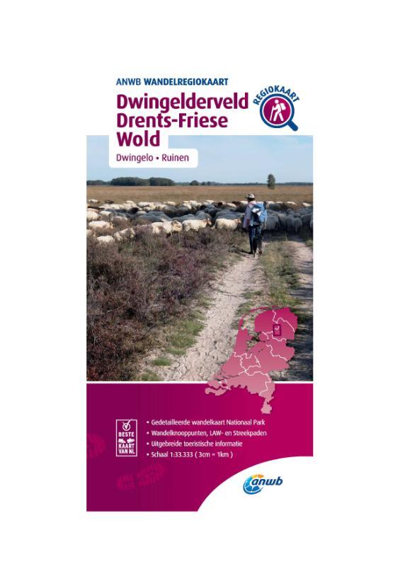 Wandelregiokaart Dwingelderveld, Drents-Friese Wold 1:33.333