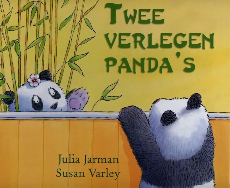 Twee verlegen pandas