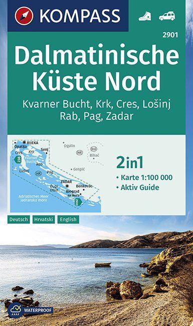 Dalmatinische Küste Nord 1:100 000