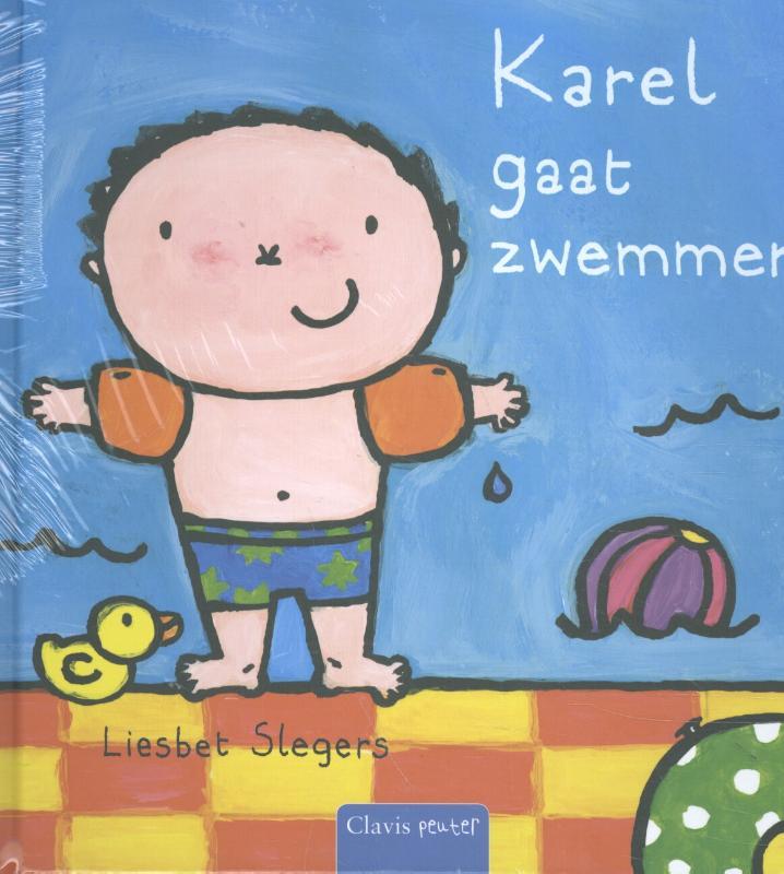Karel pretpakket( Karel gaat zwemmen + stickerboek Karel + strandbal)