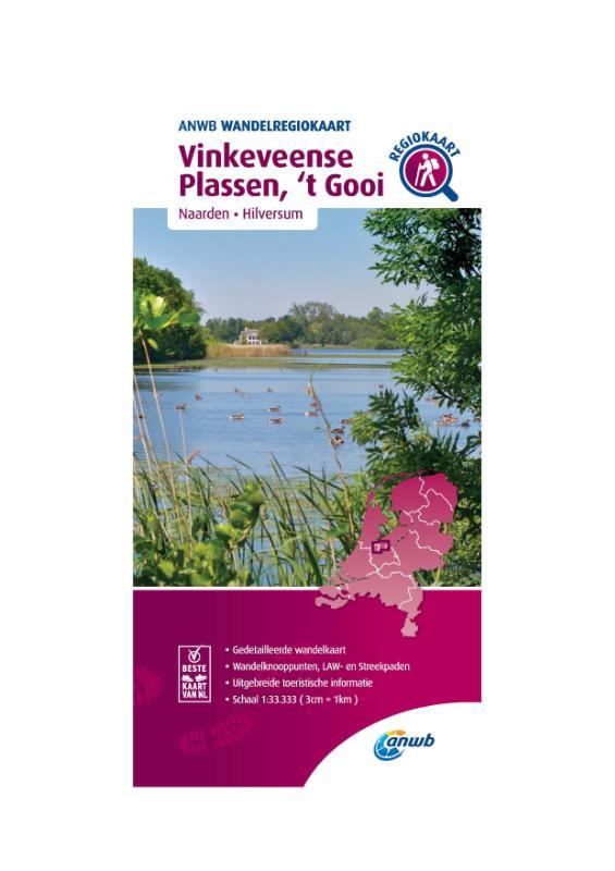 Wandelregiokaart Vinkeveense Plassen, 't Gooi 1:33.333