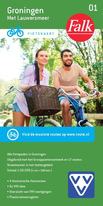 Falk VVV fietskaart 01 Groningen
