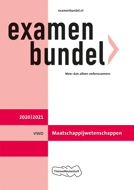 Examenbundel vwo Maatschappijwetenschappen 2020/2021