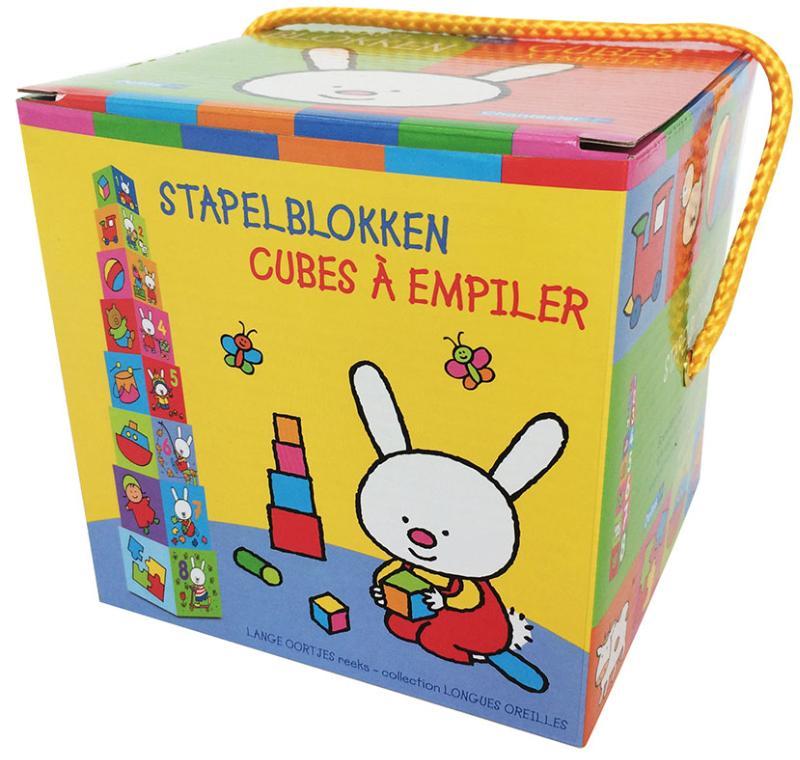 Stapelblokken - Lange oortjes (+ 12 m) / Cubes à empiler - Longues oreilles (+ 12 m)