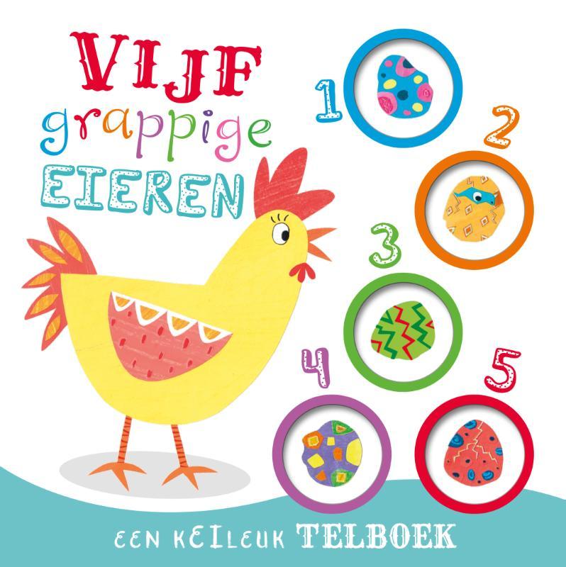 Vijf grappige eieren - telboek