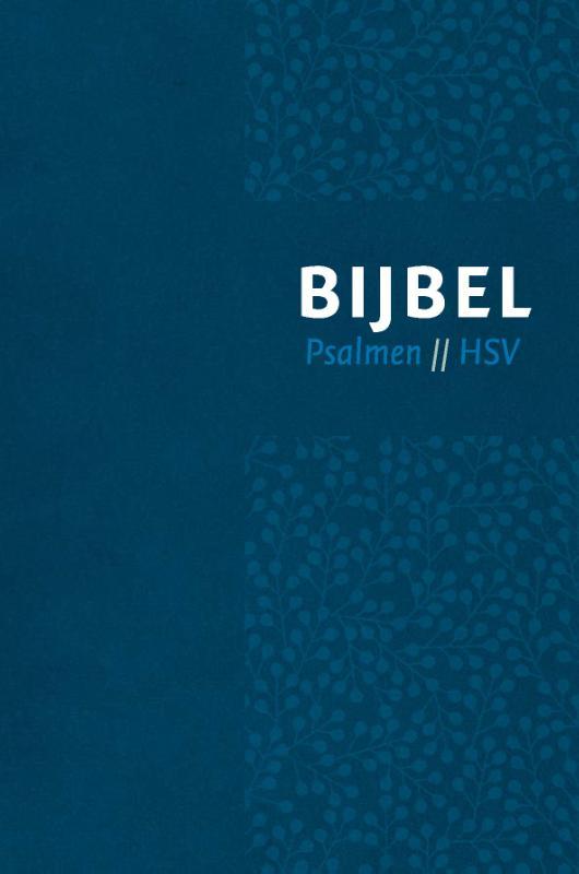 Bijbel (HSV) met Psalmen - vivella blauw zilversnee