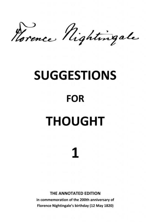 Suggestions for Thought 1