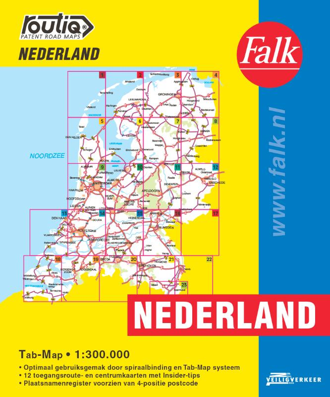 Falk autokaart Nederland Routiq