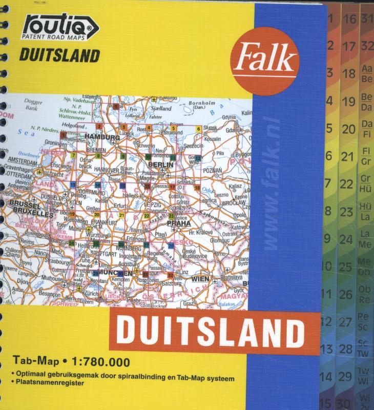 Falk autokaart Duitsland routiq