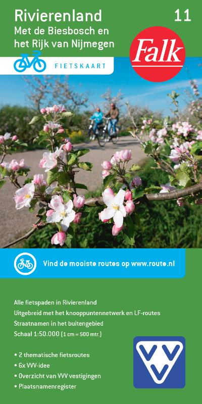 Falk VVV fietskaart 11 Rivierenland