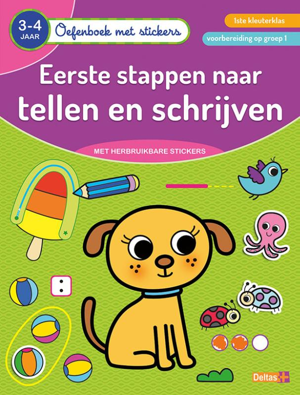 Oefenboek met stickers - Eerste stappen naar tellen en schrijven (3-4 j.)