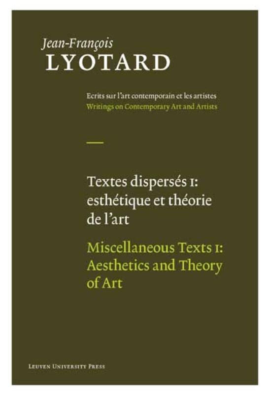 1 esthetique et theorie de l'art / aesthetics and theory of art