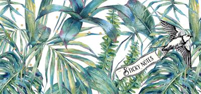Sticky notes box Botanic