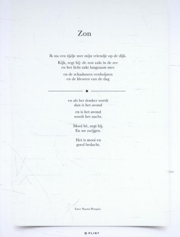 10 poëziekaarten Plint Ester Naomi Perquin