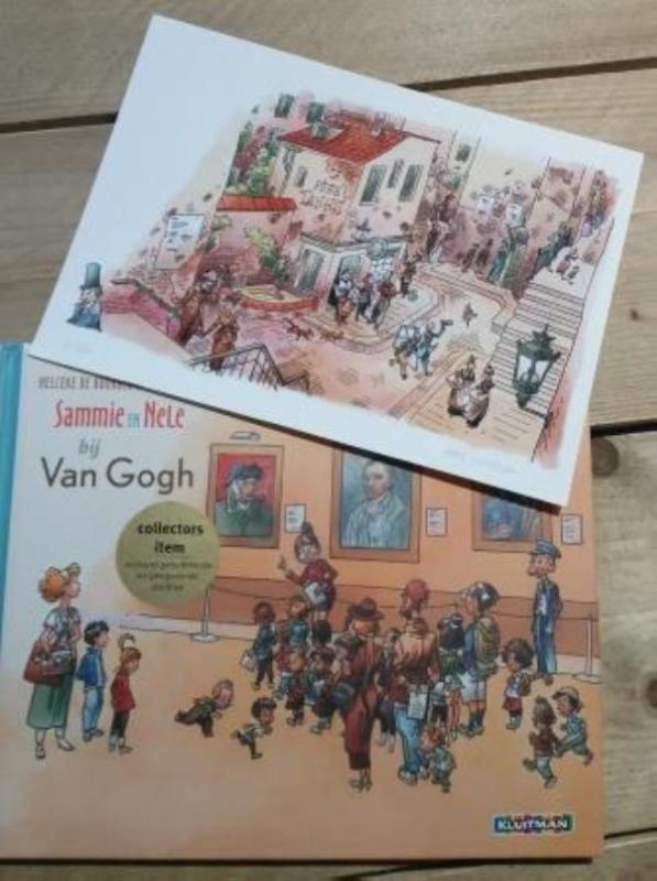 Sammie en Nele bij Van Gogh. Artist edition Chinees