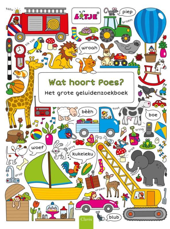 Wat hoort Poes? Het grote geluidenzoekboek
