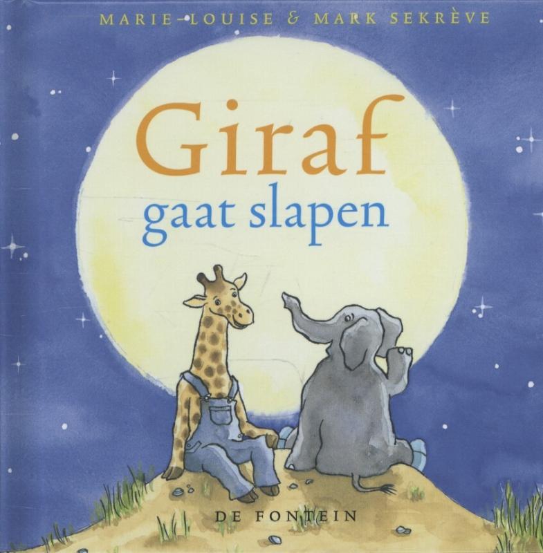 Giraf gaat slapen