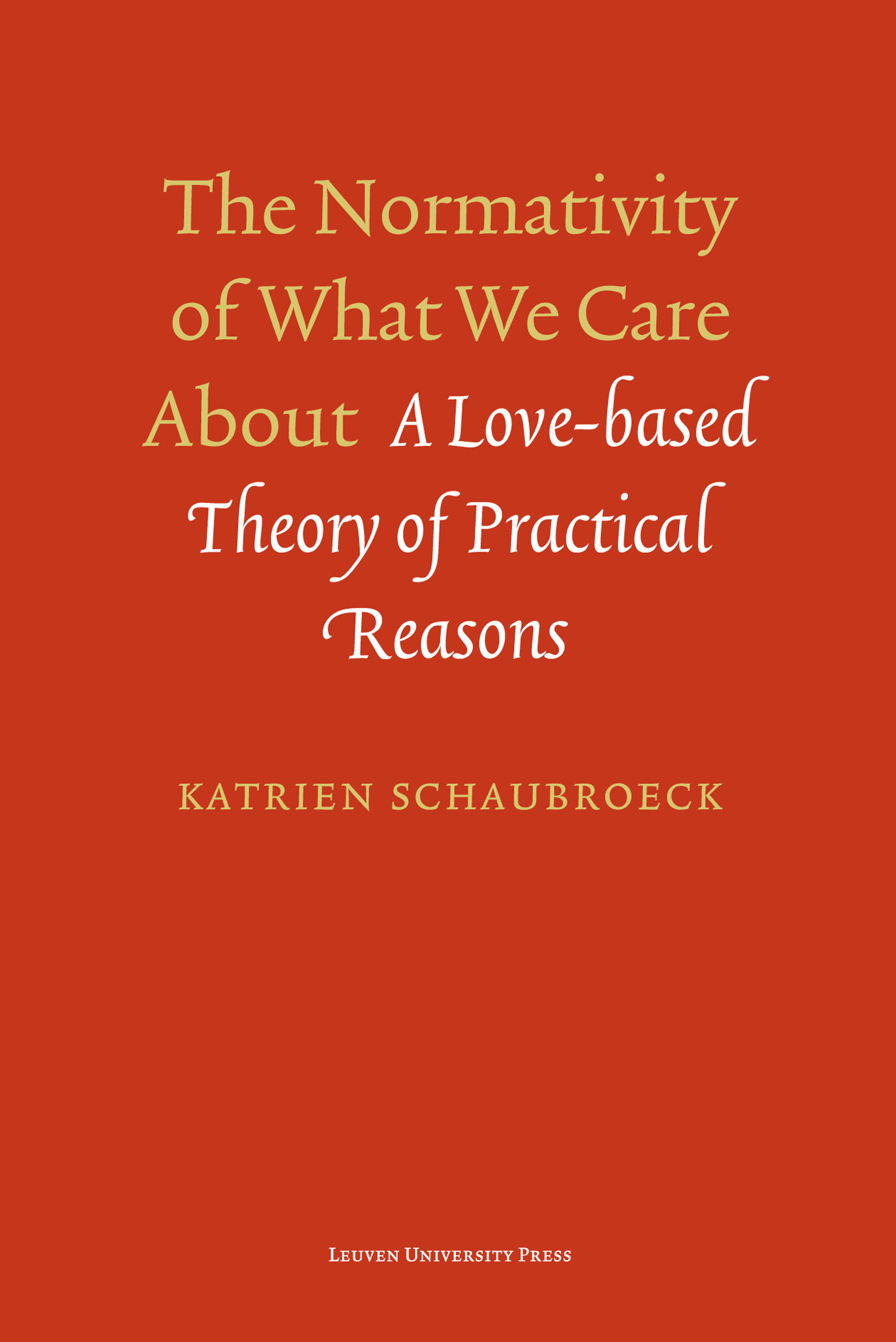 The normativity of what we care about